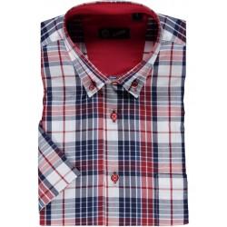 Camisa de xadrez manga curta