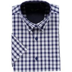 Camisa de quadrados manga curta